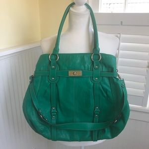 Mondani NY Large Vibrant Green Shoulder Bag